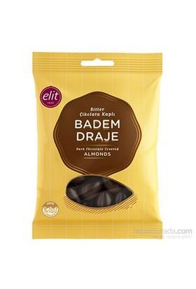Elit Bitter Çikolata Kaplı Badem Draje 250 Gr