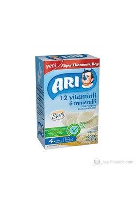 Arı 12 Vitamin 6 Mineralli Sütlü Pirinç Unu 500 Gr