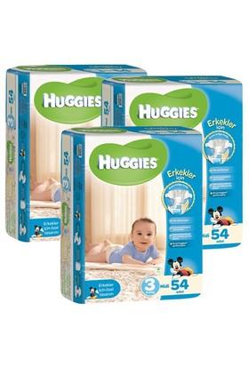 Huggies Oğlum İçin Bebek Bezi Jumbo 3'lü Paket 3 Beden 162 Adet