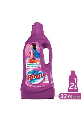 Bingo Renkli Sıvı Bakım Çamaşır Deterjanı 2L