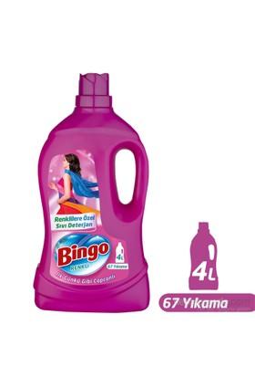Bingo Renkli Sıvı Bakım Çamaşır Deterjanı 4L