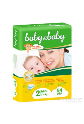 Baby&Baby Bebek Bezi İkiz Paket 2 Beden 54 Adet