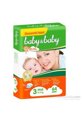 Baby&Baby Bebek Bezi Ekonomik Paket 3 Beden 64 Adet