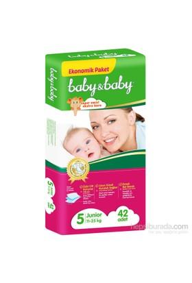 Baby&Baby Bebek Bezi Ekonomik Paket 5 Beden 42 Adet