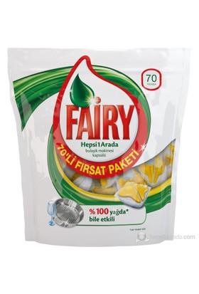 Fairy Hepsi Bir Arada Bulaşık Makinesi Kapsülü Limon 70 Yıkama