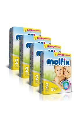 Molfix Bebek Bezi Comfort Fix Jumbo 4'lü Paket 2 Beden 320 Adet