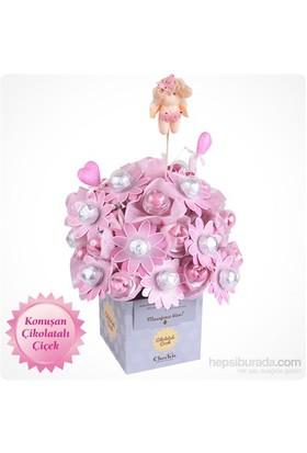 ChocChic Kız Bebek Buketi Çikolatalı Çiçek
