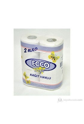 Ecco Soft Kağıt Havlu 2Li Beyaz(C.Kat)