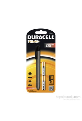 Duracell Led Fener PEN-1 Alüminyum Kullanışlı Serisi 2xDuracell AAA pil hediyeli