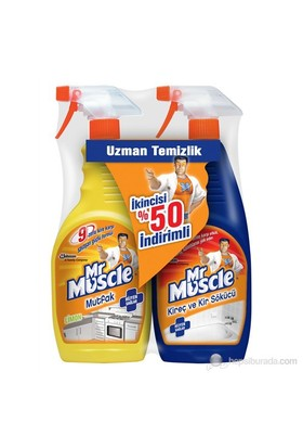 Mr Muscle Mutfak 750 ml + Mr Muscle Kireç 750 ml kk