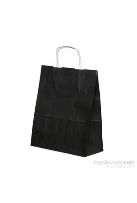 KullanAtMarket Siyah Büyük Kraft Çanta 25 Adet