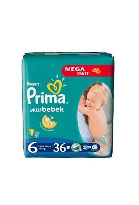 Prima Bebek Bezi Aktif Bebek Mega Paket 6 Beden 36 Adet