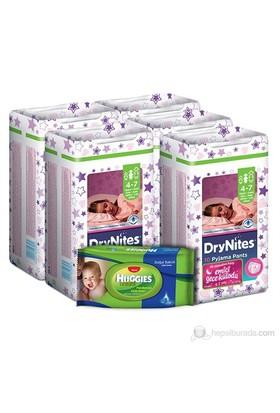 Huggies Dry Nites Emici Gece Külodu Kız 5 'li Paket S Beden 50 Adet (1 Adet Islak Havlu Hediye)