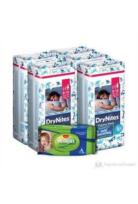 Huggies Dry Nites Emici Gece Külodu Erkek 5 'li Paket L Beden 45 Adet (1 Adet Islak Havlu Hediye)