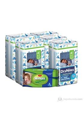 Huggies Dry Nites Emici Gece Külodu Erkek 5 'li Paket S Beden 50 Adet (1 Adet Islak Havlu Hediye)