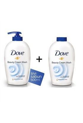Dove Beauty Cream Wash Sıvı Sabun 500 Ml + 500 Ml Yedek Şişe