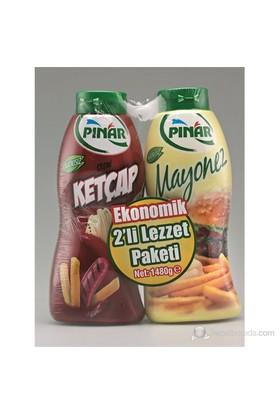 Pınar Ketçap 750+Mayonez 650 gr