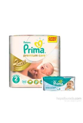 Prima Bebek Bezi Premium Care Mega Paket 2 Beden 90 Adet