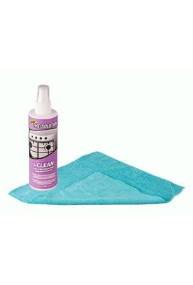 The Solutıon I-Clean Ankastre Inox Paslanmaz Çelik Beyaz Eşya Cam Fırın Ocak Temizleme - Yağ Sökücü (30*40 Microfiber Bez Hediyeli)