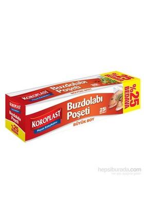Koroplast Buzdolabı Poşeti Büyük Boy %25 Bedava 25'li 30x45 cm kk