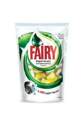 Fairy Hepsi Bir Arada Bulaşık Makinesi Kapsülü Limon 84 yıkama