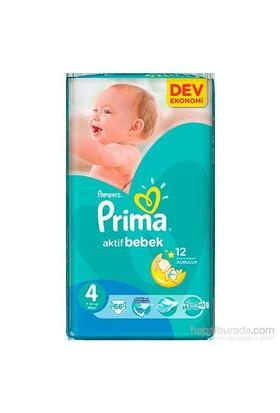 Prima Bebek Bezi Aktif Bebek Dev Ekonomi 4 Beden 66 Adet