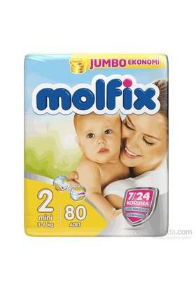 Molfix Bebek Bezi Comfort Fix Jumbo 2 Beden 80 Adet + 40'lı Islak Havlu Hediyeli