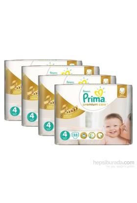 Prima Bebek Bezi Premium Care Ekonomi 4'lü Paket 4 Beden 140 Adet