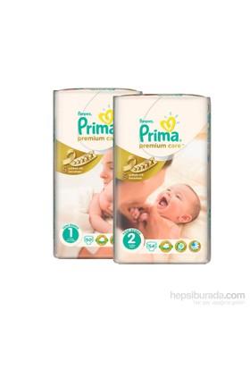 Prima Bebek Bezi Premium Care 1 + 2 Beden 104 Adet