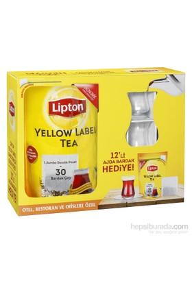 Lipton Yellow Label 40'Lı Jumbo Demlik Poşeti 12'Li Ajda Bardak Hediyeli!