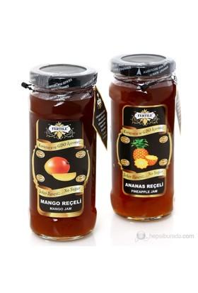 Fertile Ananas Reçeli 310 gr + Mango Reçeli 310 gr 2 'li paket Şeker İlavesiz