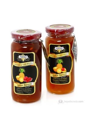 Fertile Ananas - Mango Reçeli 310 gr + Nar - Ananas Reçeli 300 gr 2 'li paket Şeker İlavesiz