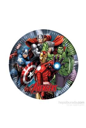 KullanAtMarket Avengers Power Kağıt Tabak 23Cm 8 Adet