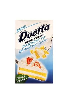 Duetto Duetto Bitkisel Krema Şekersiz 1Lt