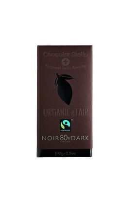 Chocolat Stella %80 Kakaolu Organik Bitter Çikolata, 100 Gr