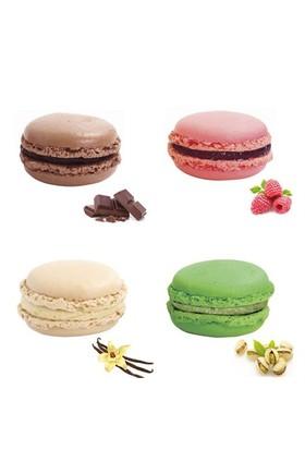 Nefis Gurme Karışık Macaron 4'Lü (Çikolatalı Antep Fıstıklı Vanilyalı Frambuazlı )