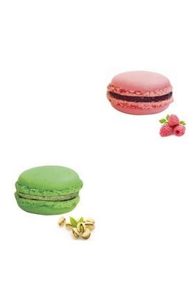 Nefis Gurme Karışık Macaron 6'Lı (Antep Fıstıklı 3 Adet Frambuazlı 3 Adet )