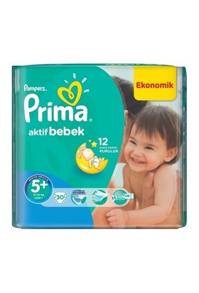 Prima Bebek Bezi Aktif Bebek Mega Paket 5+ Beden 30 Adet