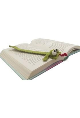 Knitting Toy El Örgüsü Kurbağa Figürlü Kitap Ayracı