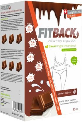 Fitback Zayıflama Amaçlı Kalorisi Kısıtlanmış Gıda - Çikolata Aromalı (15 Günlük)