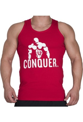 Supplementler.com Posing Conquer Tank Top Kırmızı Small