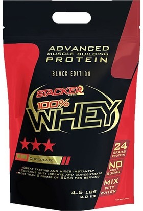 Stacker Europe % 100 Whey Protein 2000 Gram Çikolata-Fındık