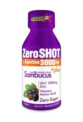 Zero Shot 60 ML 3000Mg L-Carnitine + Plus Sambucus Kan Portakalı 1 Adet
