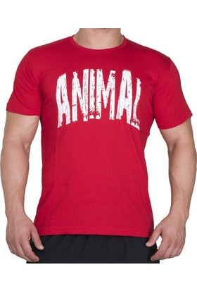 Supplementler.com Animal T-Shirt Kırmızı Beyaz Small