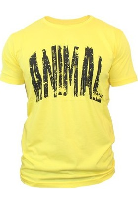 Supplementler.com Animal T-Shirt Sarı Siyah Small