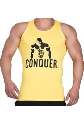 Supplementler.com Posing Conquer Tank Top Sarı Small