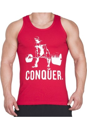 Supplementler.com Halter Conquer Tank Top Kırmızı Small