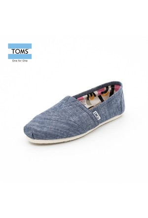 Toms 10004919 Blue Chambray Wm Clsc Alprg Blue Ayakkabı