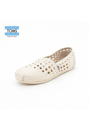 Toms 10004995 Whisper Satin Woven Wm Clsc Alprg Natural Ayakkabı