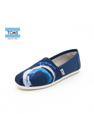 Toms 10005084 İnk Satin Embroidery Wm Clsc Alprg Navy Ayakkabı
